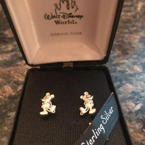 Jewelry - Disney Mickey Mouse Sterling Silver Stud Earrings